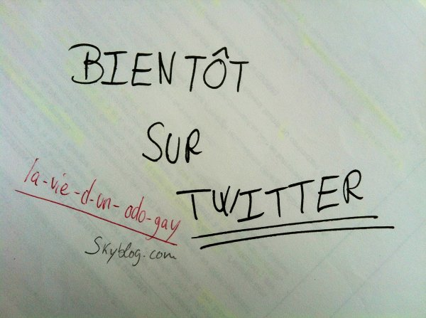 Bientt sur Twitter !