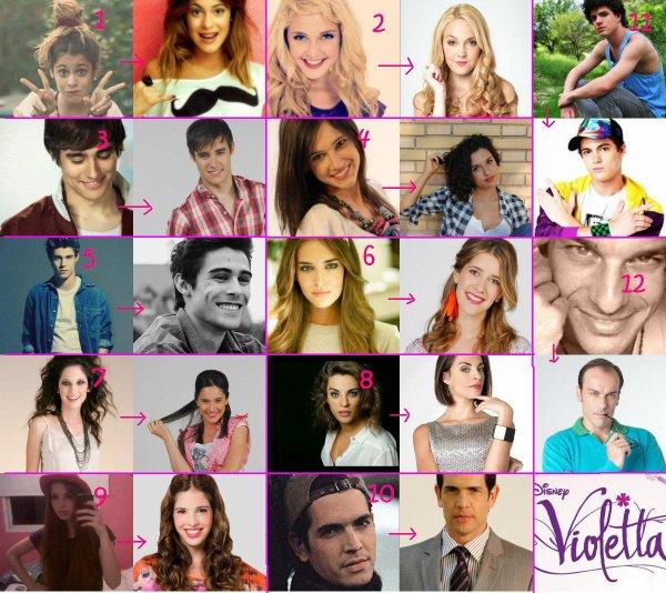Personnages principal de violetta violetta co 39 - Violetta saison 2 personnage ...
